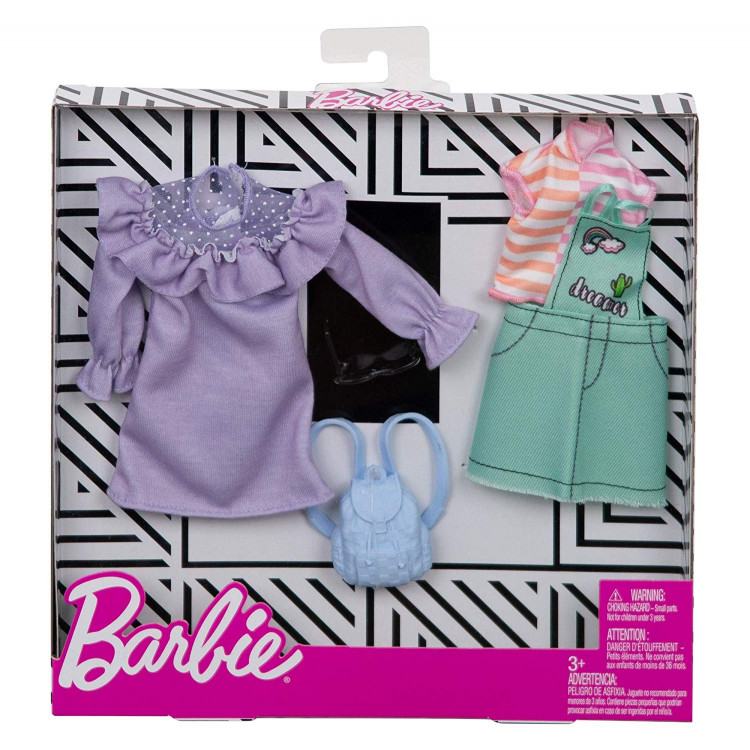 Барбі Одяг Barbie Fashion Pastel and Patchwork 2 Pack