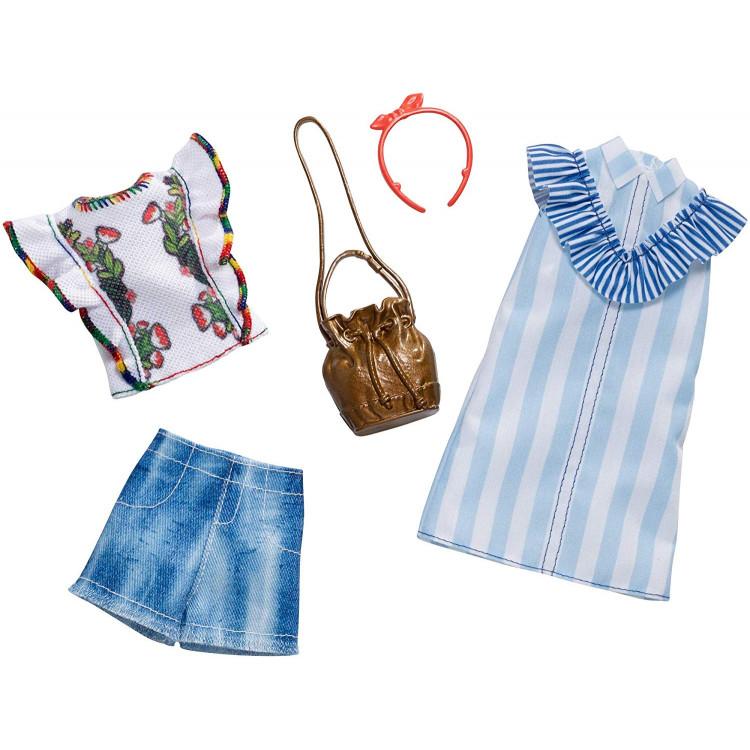 Барбі Одяг Barbie Floral Pinstripes Fashion, 2 Pack