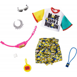 Одежда для кукол Барби Barbie Storytelling Fashion Pack Inspired by Minions Top, Skirt & 6 Accessories