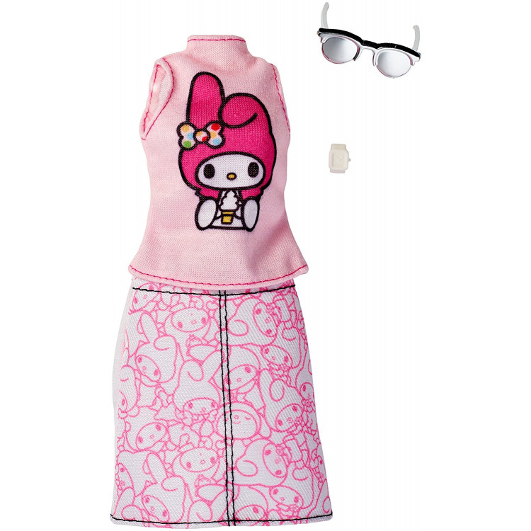 Барбі Одяг Barbie Fashions Hello Kitty Pink Top & Patterned Skirt