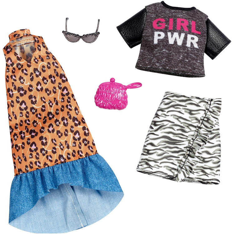 Барбі Одяг Barbie Fashion, Animal Print,2 count