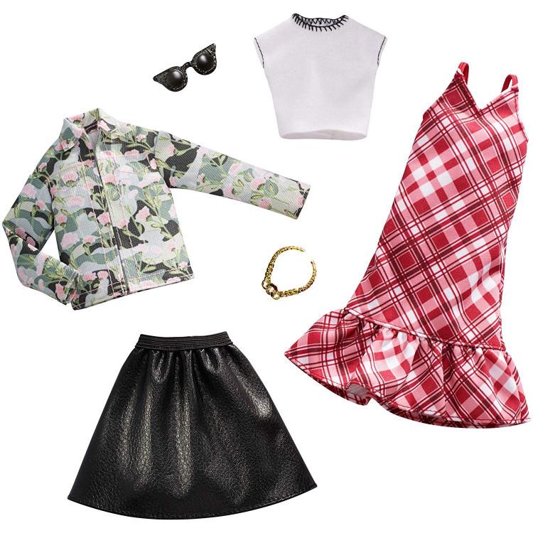 Барбі Одяг Barbie Plaid Camo Fashion, 2 Pack