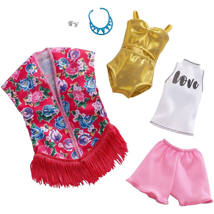 Барбі Одяг Barbie Beach Kimono/Swimsuit Fashion, 2 Pack