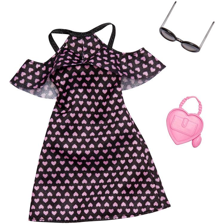 Барбі Одяг Barbie Fashion Dress with Hearts and Accessory