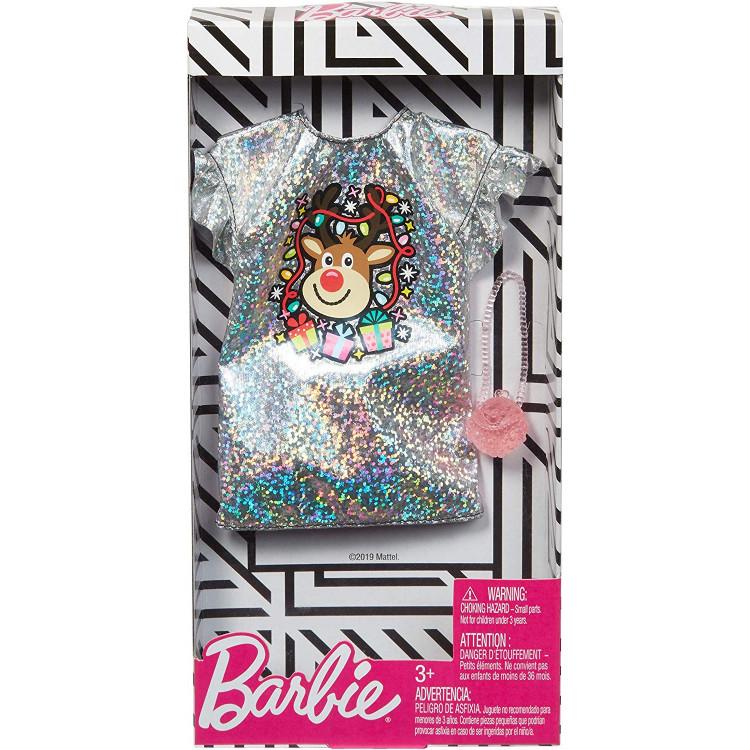 Барбі Одяг Barbie Silver Christmas Holiday Dress Fashion Pack
