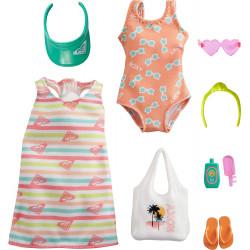 Одежда для кукол Барби Barbie Storytelling Fashion Pack Inspired by Roxy Striped Dress, Swimsuit