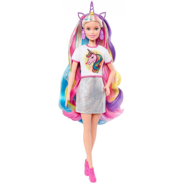 Лялька Барбі Фантазія волосся Русалка та Єдинорог Barbie Fantasy Hair Doll with Mermaid & Unicorn Looks, Blonde