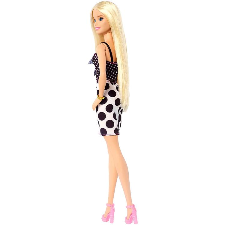 Кукла Барби Модница Barbie Fashionistas Doll with Long Blonde Hair Wearing Polka Dot Dress 134