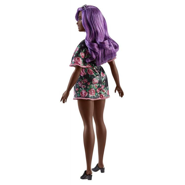 Барбі Модниця Barbie Fashionistas Doll, Purple Hair Curvy Body Type 125