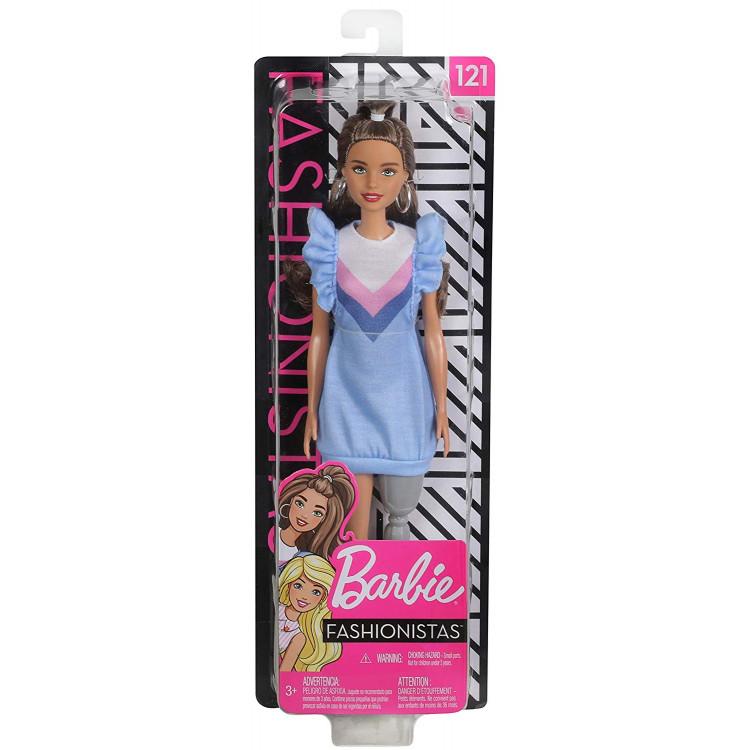 Барбі Модниця Barbie Fashionistas Doll, Brunette Hair with Prosthetic Leg 121