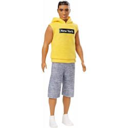 "Кен Моднік Ken Fashionistas Doll Wearing Yellow ""New York"" Hoodie 131"