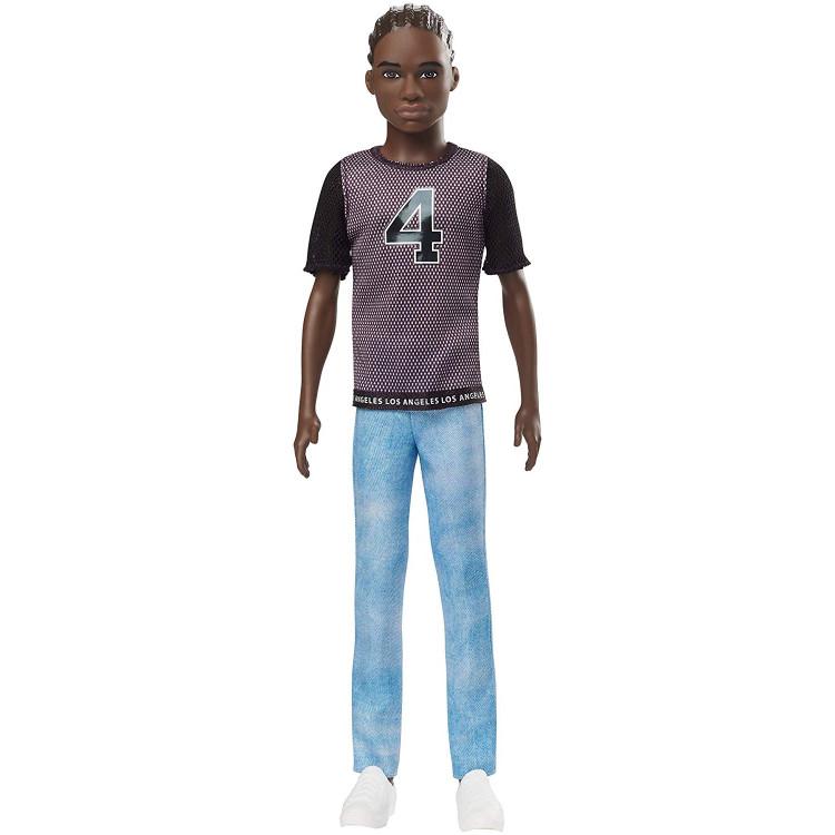 Кукла Кен Модник Ken Fashionistas Doll Wearing Team-Inspired T-Shirt and Denim Pants 130
