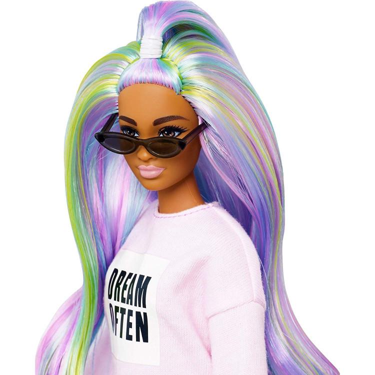 Кукла Барби Модница Barbie Fashionistas Dream Often Doll with Long Rainbow Hair 136