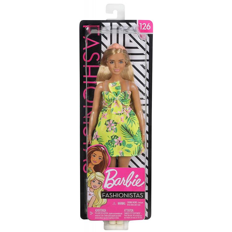Барбі Модниця Barbie Fashionistas Doll, Jungle Dress Curvy Body Type 126