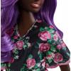 Кукла Барби Модница Barbie Fashionistas Doll, Purple Hair Curvy Body Type 125
