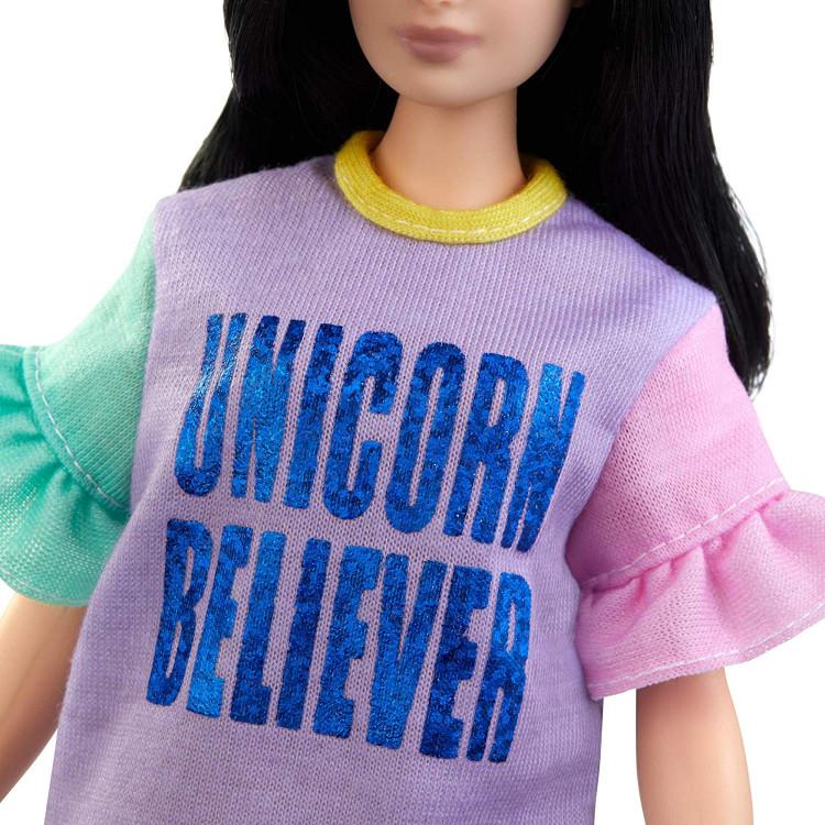 Барбі Модниця Barbie Fashionistas Doll, Unicorn Believer Curvy Body Type 127