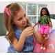 Кукла Барби Модница Barbie Fashionistas Doll with Long Brunette Braids Wearing Neon Green Animal-Print Top 144
