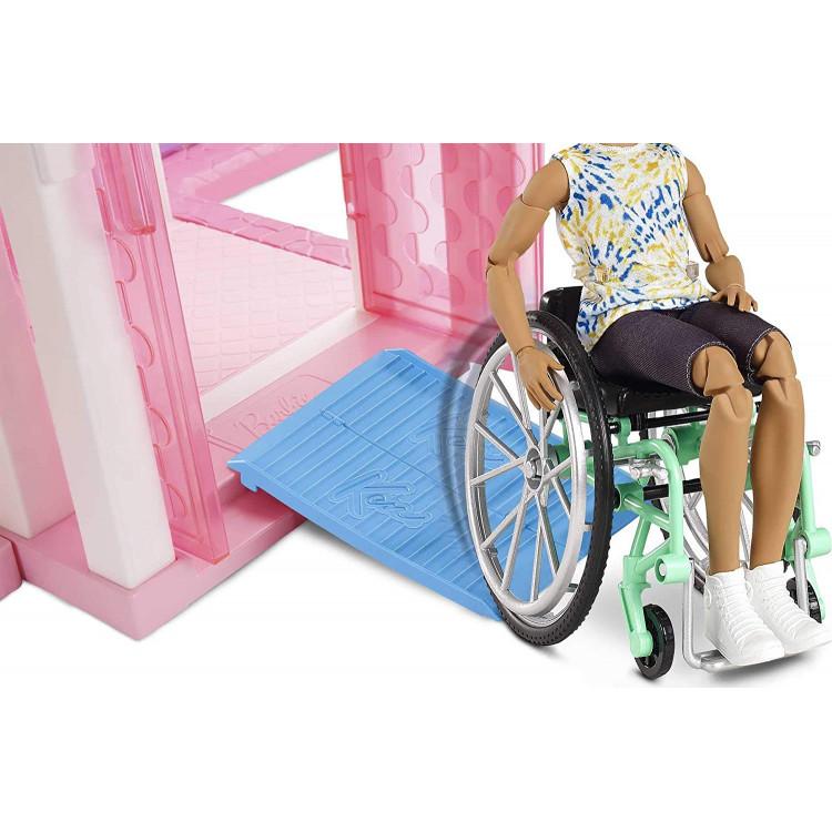 Лялька Кен Моднік у кріслі-візку Barbie Ken Fashionistas Doll with Wheelchair and Ramp 167