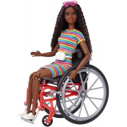 Кукла Барби Модница на инвалидной коляске Barbie Fashionistas Doll with Wheelchair & Ramp, Crimped Brunette Hair 166
