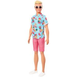 Кукла Кен Модник Ken Fashionistas Doll Sculpted Blonde Hair & Blue Tropical Fruit-Print Shirt 152