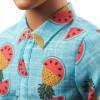 Лялька Кен Моднік Ken Fashionistas Doll Sculpted Blonde Hair & Blue Tropical Fruit-Print Shirt 152