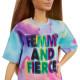 Лялька Барбі Модниця Barbie Fashionistas Doll with Light Brown Hair Wearing Tie-Dye T-Shirt Dress 159