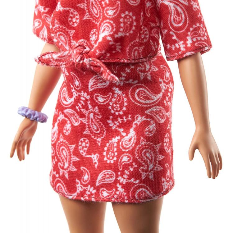 Кукла Барби Модница Barbie Fashionistas Doll with Long Pink Hair Wearing a Red Paisley Top & Skirt 151