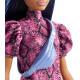 Лялька Барбі Модниця Barbie Fashionistas Doll with Blue Hair Wearing Pink & Black Dress 143