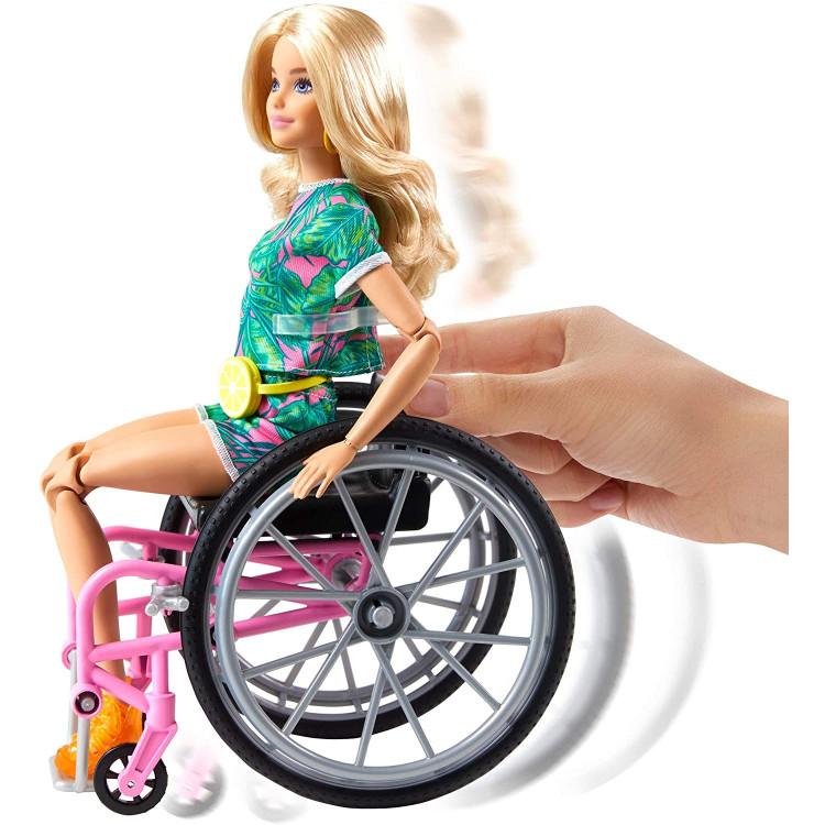 Кукла Барби Модница на инвалидной коляске Barbie Fashionistas Doll with Wheelchair & Ramp, Crimped Long Blonde Hair 165