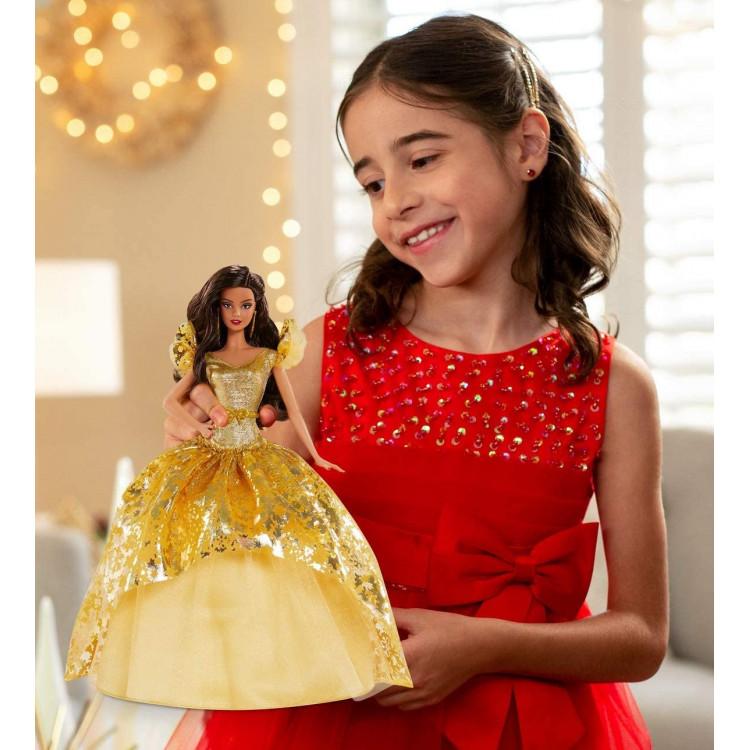 Лялька Барбі колекційна Святкова Barbie Signature Holiday 2020 Doll, Brunette Long Hair