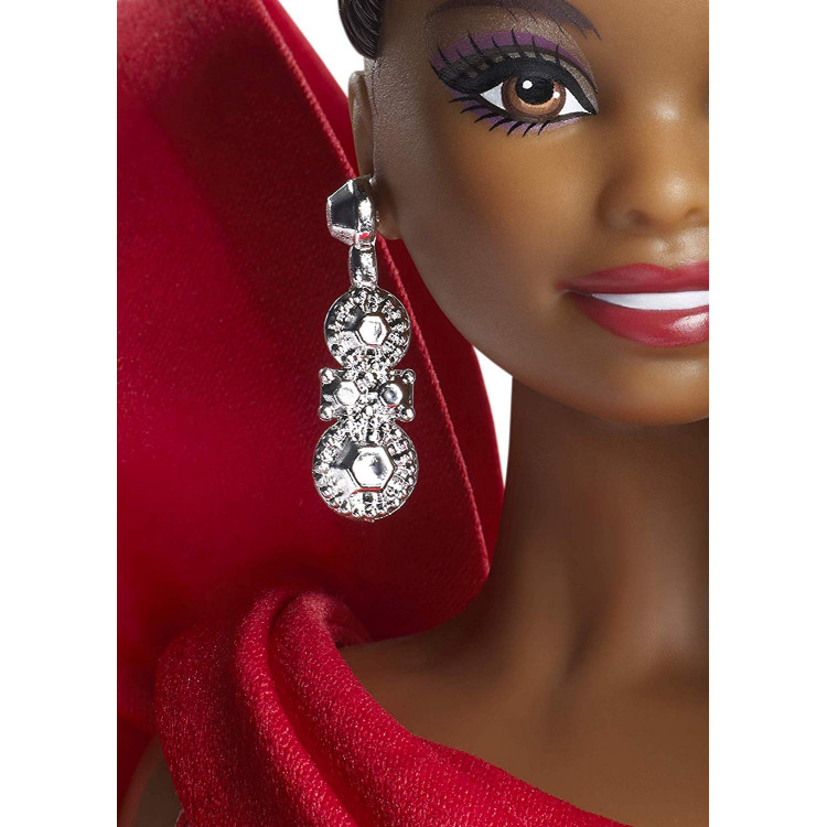 Кукла Барби коллекционная Праздничная Barbie 2019 Holiday Doll, Brunette Curly Ponytail
