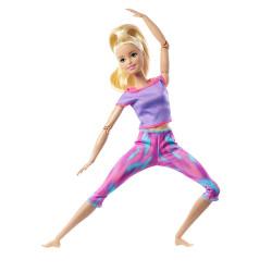 Кукла Барби Йога Двигайся как я Barbie Made to Move Doll Wearing Pink Dye Pants, Long Blonde Ponytail