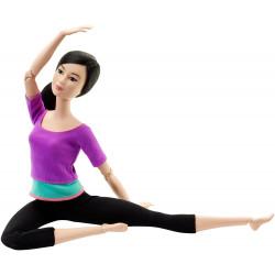 Кукла Барби Йога Двигайся как я Barbie Made to Move Barbie Doll, Purple Top