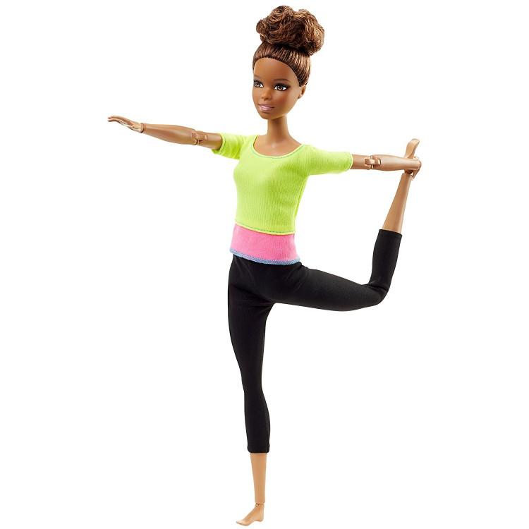 Барбі Йога рухайся як я Barbie Made to Move Barbie Doll, Yellow Top