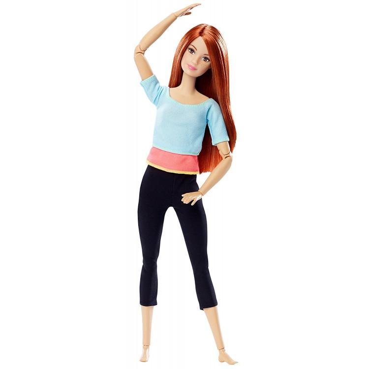 Кукла Барби Йога Двигайся как я Barbie Made to Move Barbie Doll, Light Blue Top