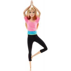 Кукла Барби Йога Двигайся как я Barbie Made to Move Barbie Doll, Pink Top