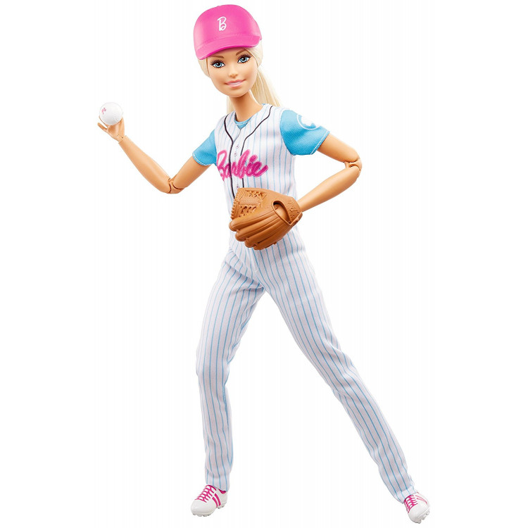 Барбі Бейсболістка Безмежні Рухи Barbie Made to Move Baseball Player Doll