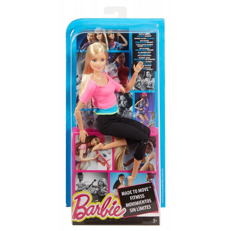 Барбі Йога рухайся як я Barbie Made to Move Barbie Doll, Pink Top