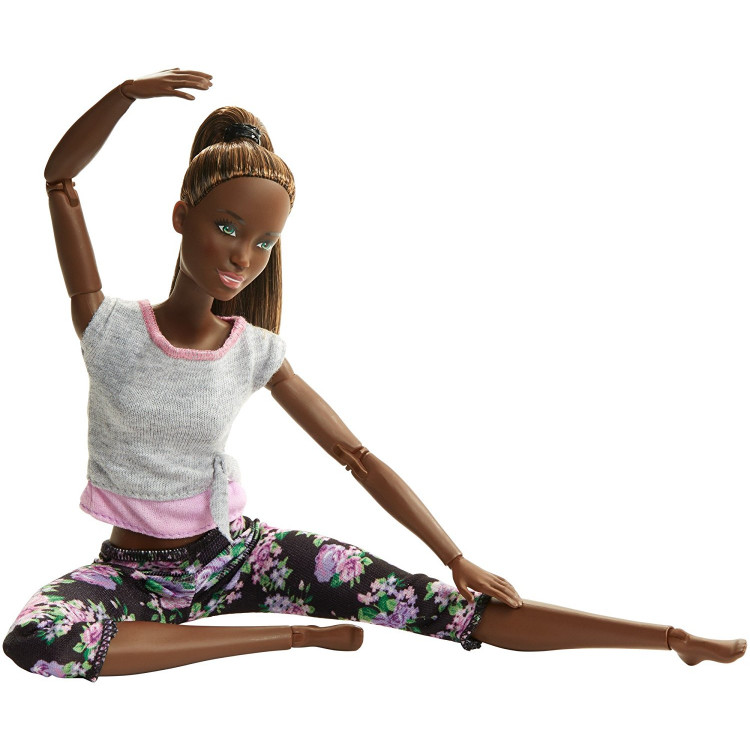 Барбі Йога рухайся як я Barbie Made to Move Barbie Doll, Dark Hair