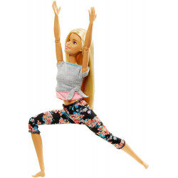Кукла Барби Йога Двигайся как я Barbie Made to Move Barbie Doll, Blonde