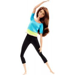 Кукла Барби Йога Двигайся как я Barbie Made to Move Barbie Doll, Blue Top