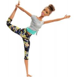 Кукла Барби Йога Двигайся как я Barbie Made to Move Barbie Doll, Brunette