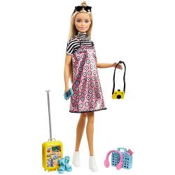 Кукла Барби и набор для путешествий Barbie Pink Passport Doll Travel Set