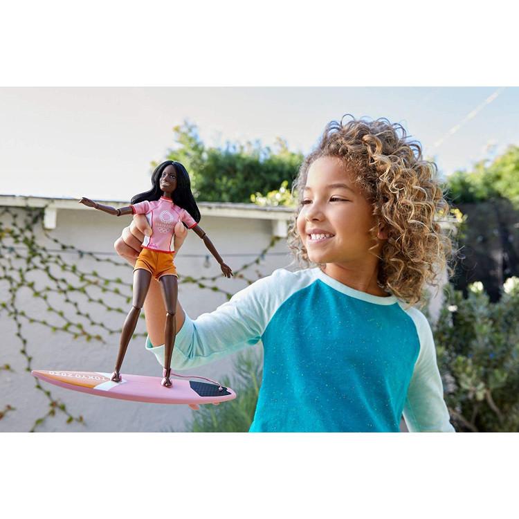 Лялька Барбі Серфер Олімпійські ігри Токіо Barbie Olympic Games Tokyo 2020 Surfer Doll