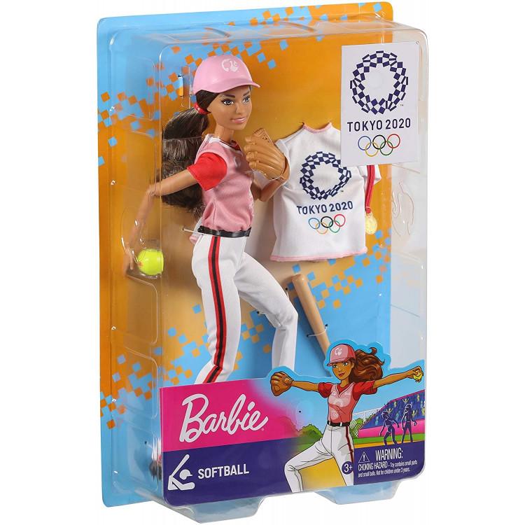 Лялька Барбі Cофтбол Олімпійські ігри Токіо Barbie Olympic Games Tokyo 2020 Softball Doll