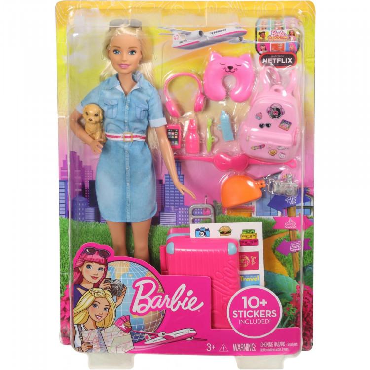 Барбі Мандрівниця Barbie Doll and Travel Set, Blonde