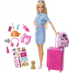 Кукла Барби Путешественница Barbie Doll and Travel Set, Blonde
