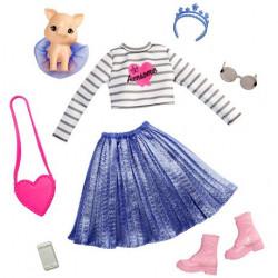 Одежда для кукол Барби Приключение принцессы Barbie Princess Adventure Doll Clothes Fashion Pack with Pet Pig