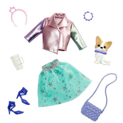 Одежда для кукол Барби Приключение принцессы Barbie Princess Adventure Doll Clothes Fashion Pack with Pet Dog