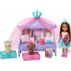 Кукла Барби Челси Сказки на ночь Приключение принцессы Barbie Princess Adventure Chelsea Storytime Playset